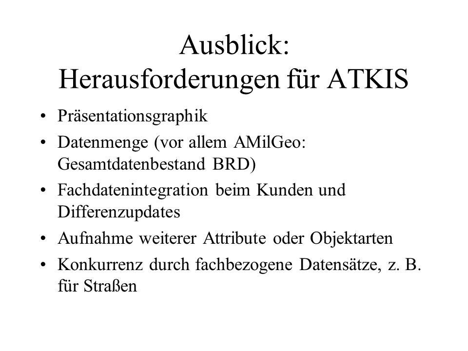Ausblick: Herausforderungen für ATKIS