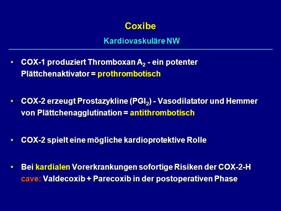 Coxibe Kardiovaskuläre NW