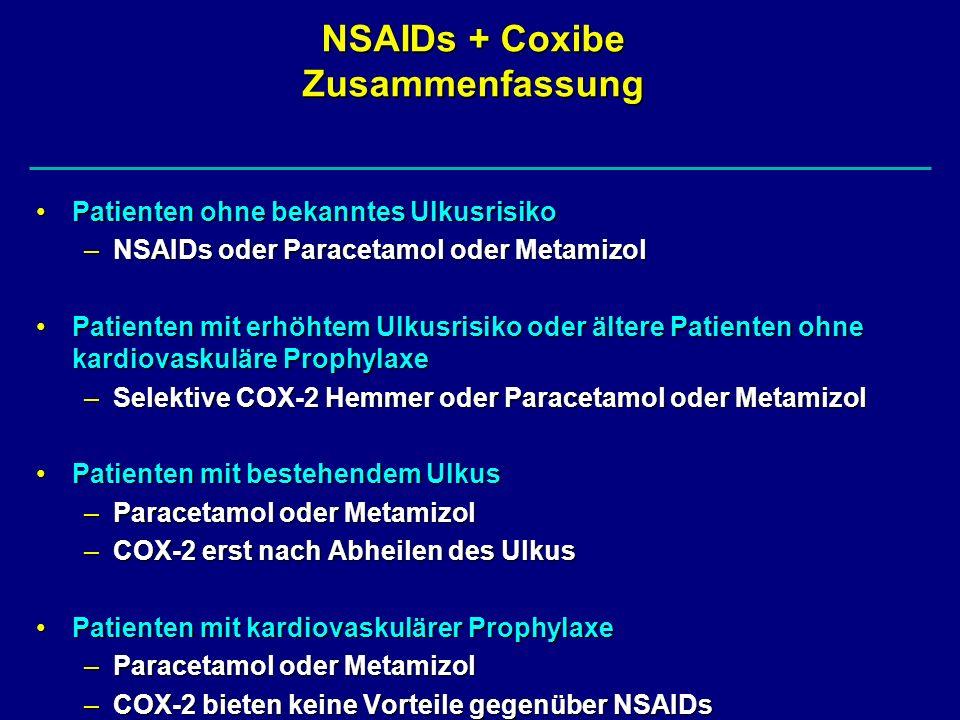 NSAIDs + Coxibe Zusammenfassung