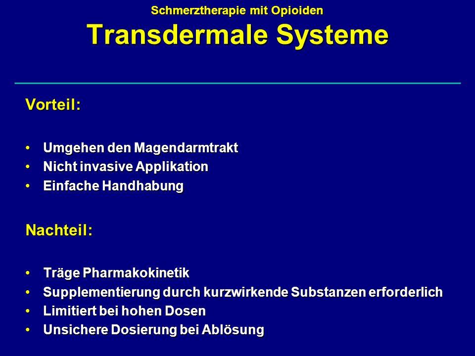 Schmerztherapie mit Opioiden Transdermale Systeme