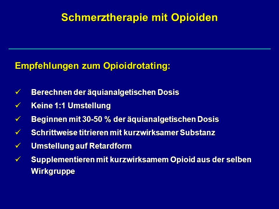 Schmerztherapie mit Opioiden