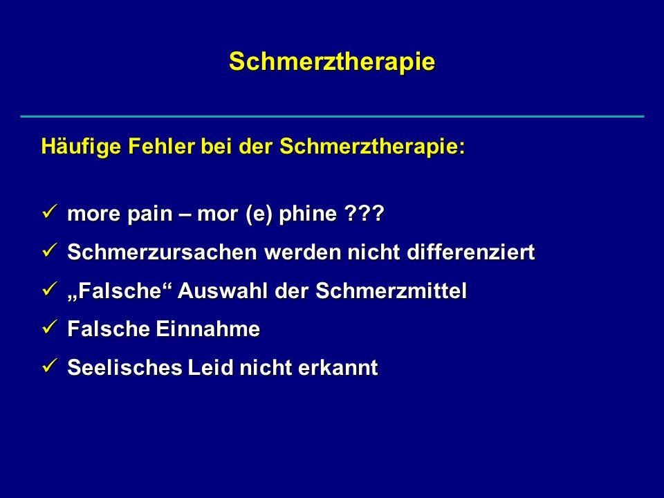 Schmerztherapie Häufige Fehler bei der Schmerztherapie:
