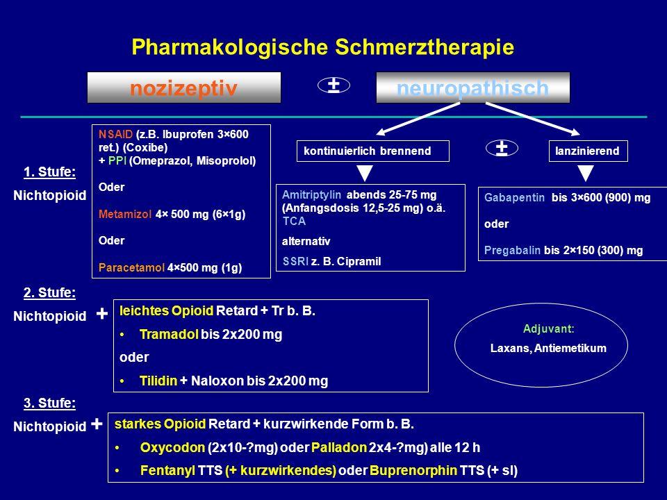 Pharmakologische Schmerztherapie