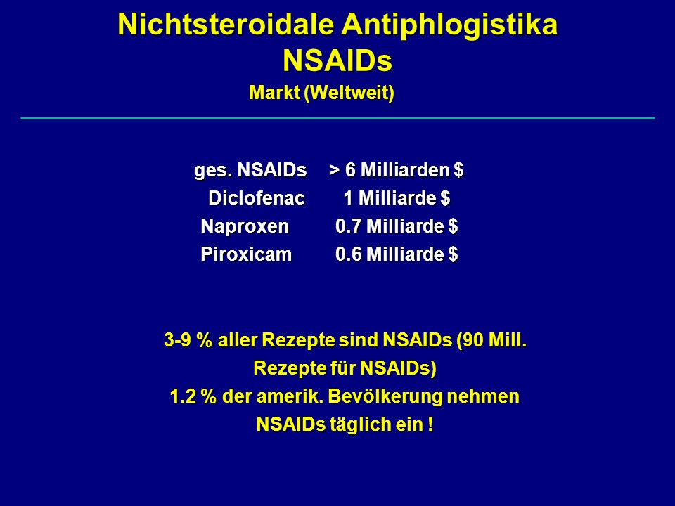 Nichtsteroidale Antiphlogistika NSAIDs
