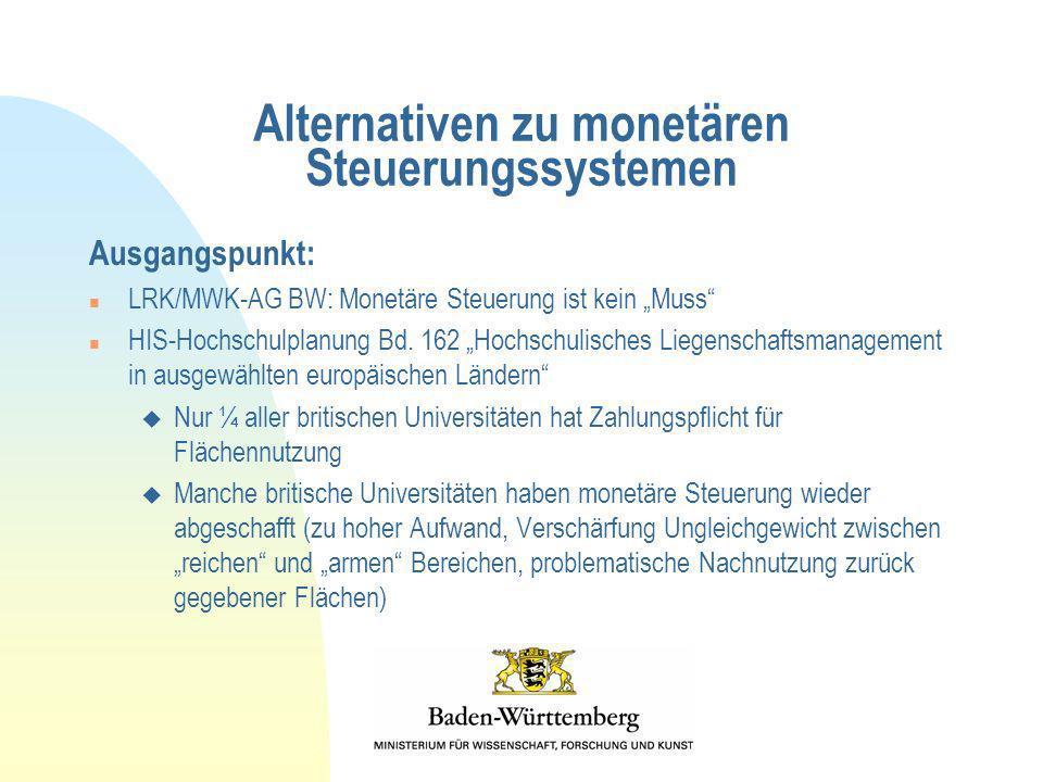 Alternativen zu monetären Steuerungssystemen