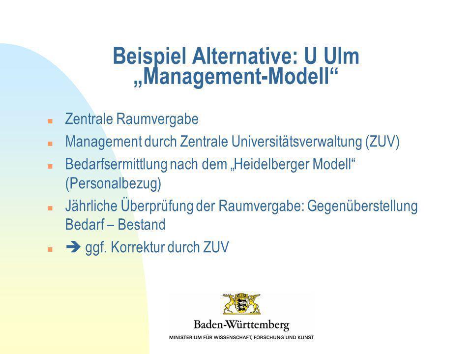 """Beispiel Alternative: U Ulm """"Management-Modell"""