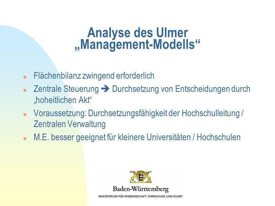 "Analyse des Ulmer ""Management-Modells"