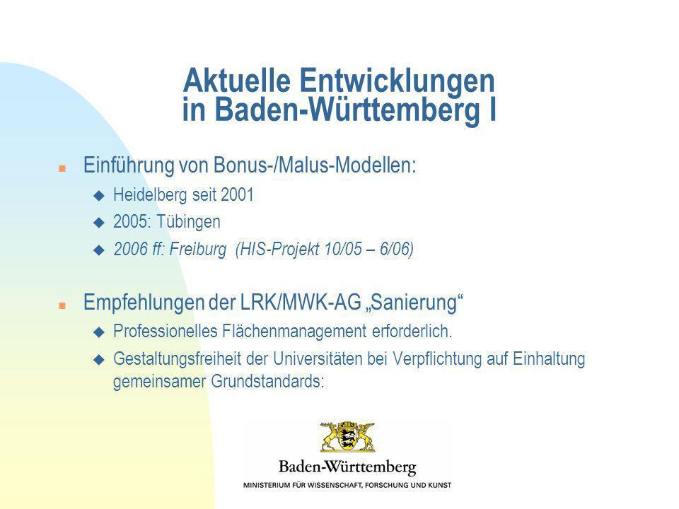 Aktuelle Entwicklungen in Baden-Württemberg I