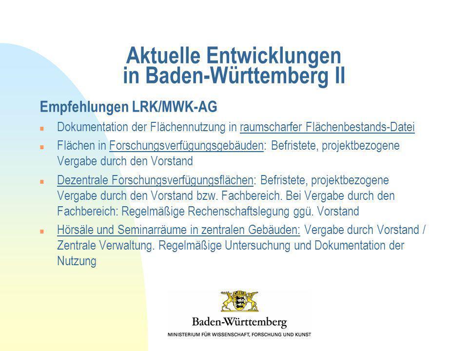 Aktuelle Entwicklungen in Baden-Württemberg II