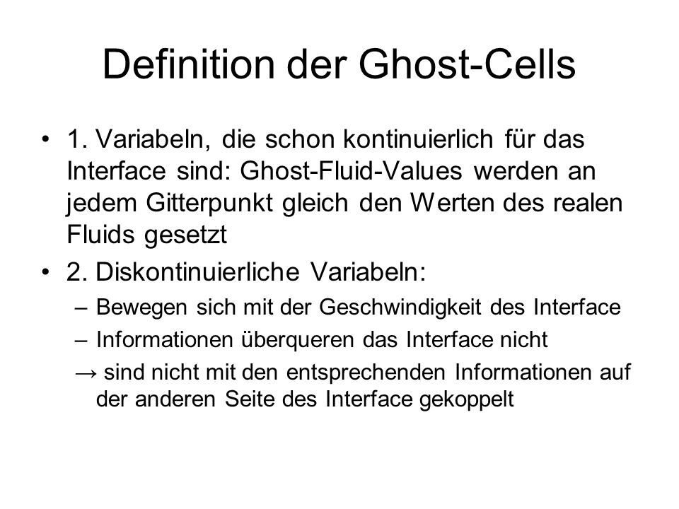 Definition der Ghost-Cells