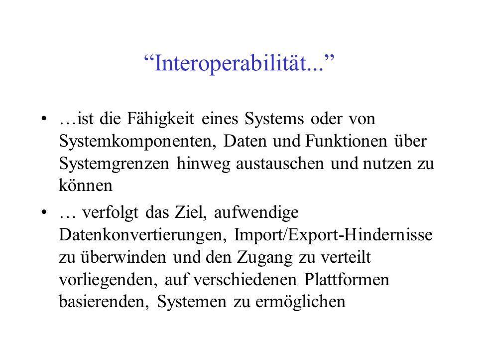 Interoperabilität...