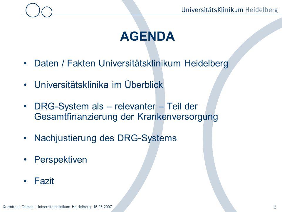 AGENDA Daten / Fakten Universitätsklinikum Heidelberg