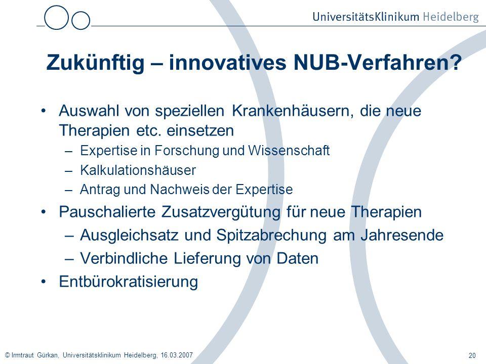 Zukünftig – innovatives NUB-Verfahren