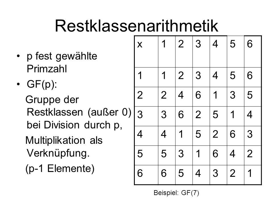 Restklassenarithmetik