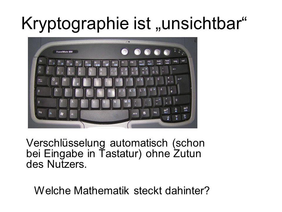 """Kryptographie ist """"unsichtbar"""