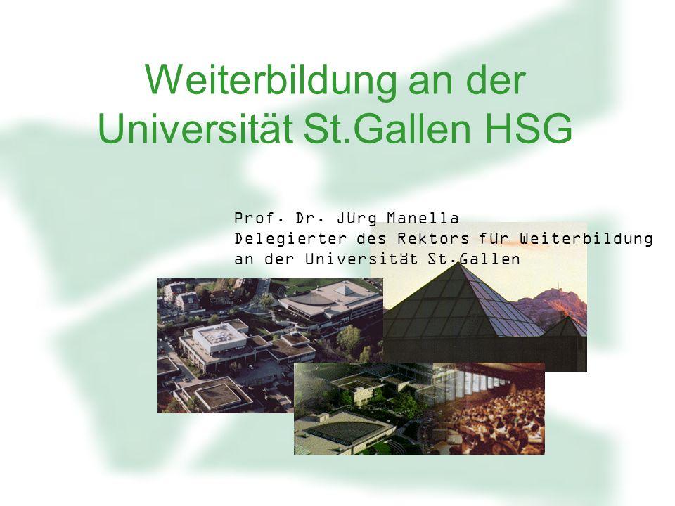 Weiterbildung an der Universität St.Gallen HSG