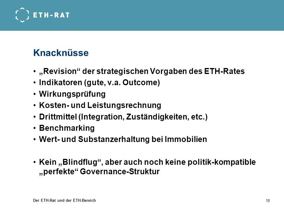 """Knacknüsse """"Revision der strategischen Vorgaben des ETH-Rates"""