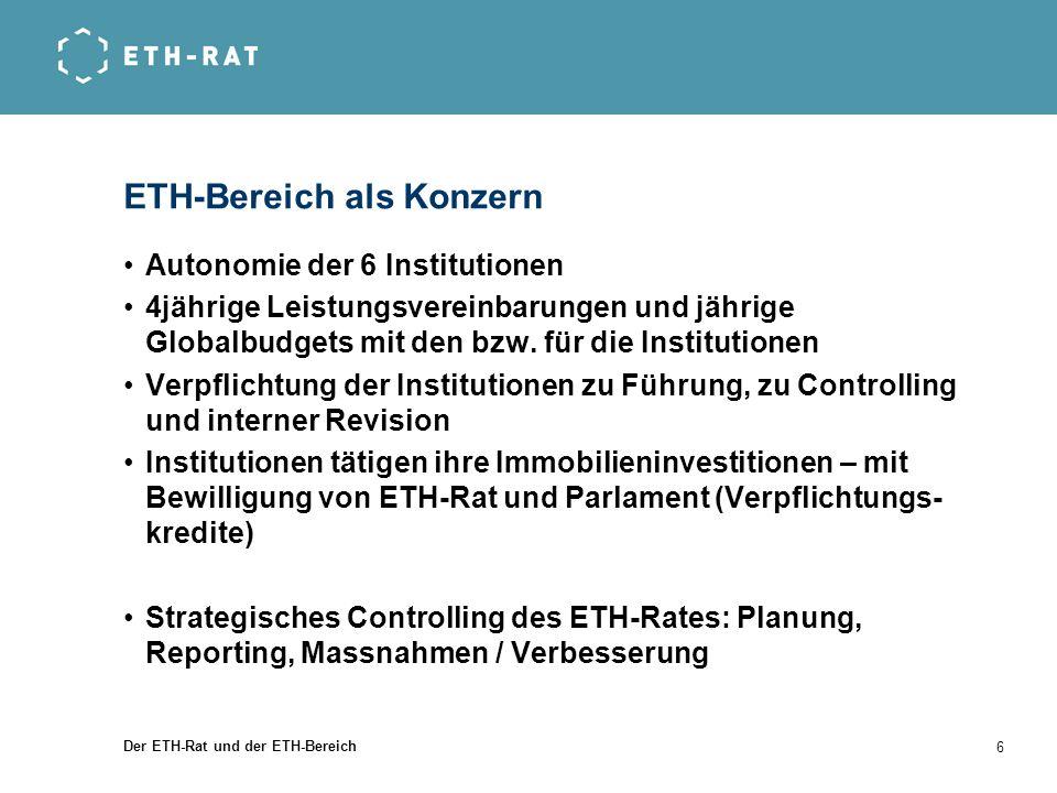 ETH-Bereich als Konzern