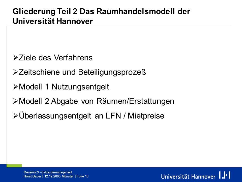 Gliederung Teil 2 Das Raumhandelsmodell der Universität Hannover
