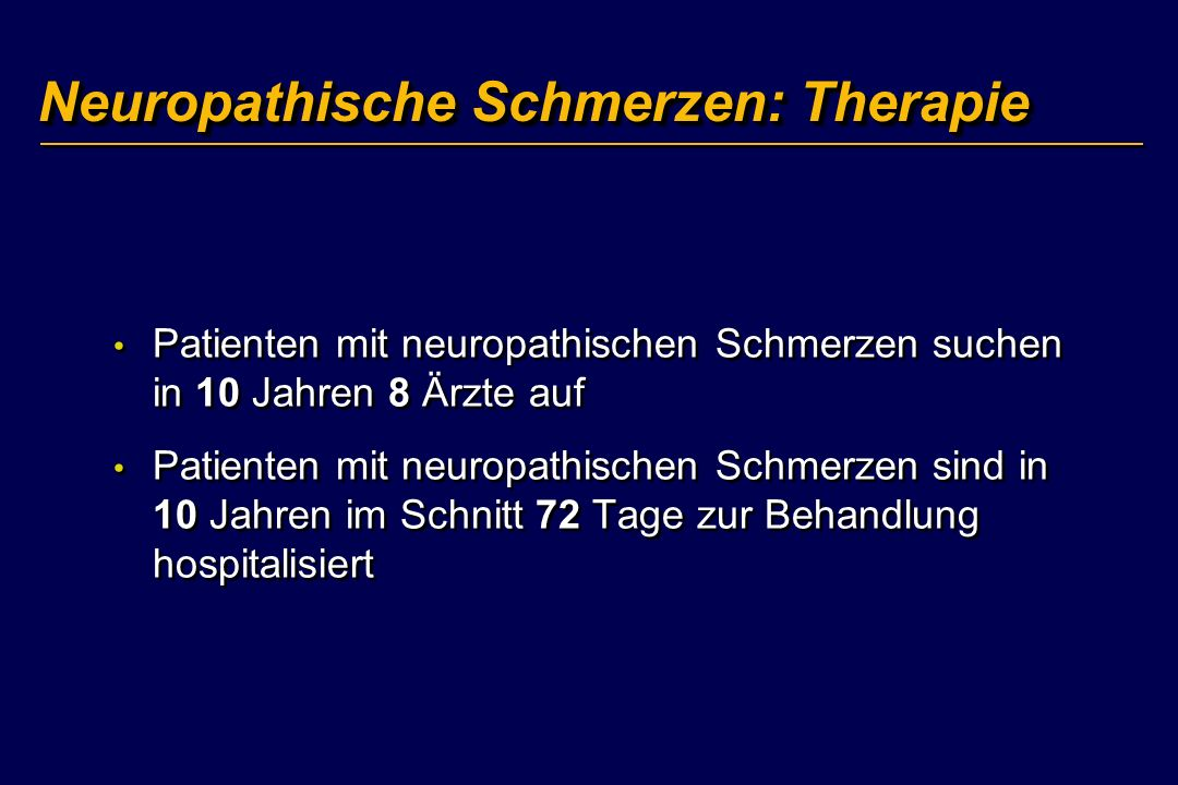 Neuropathische Schmerzen: Therapie