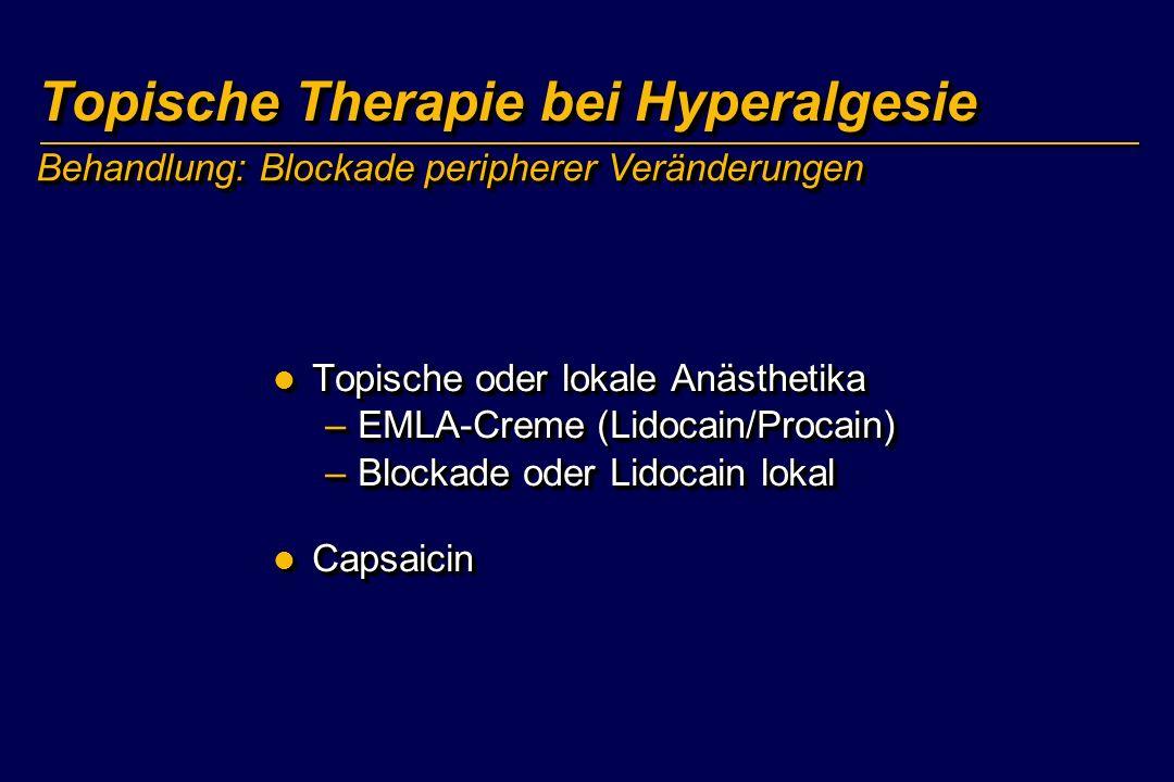 Topische Therapie bei Hyperalgesie