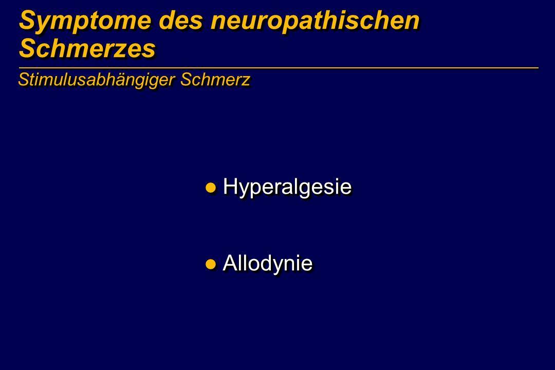 Symptome des neuropathischen Schmerzes