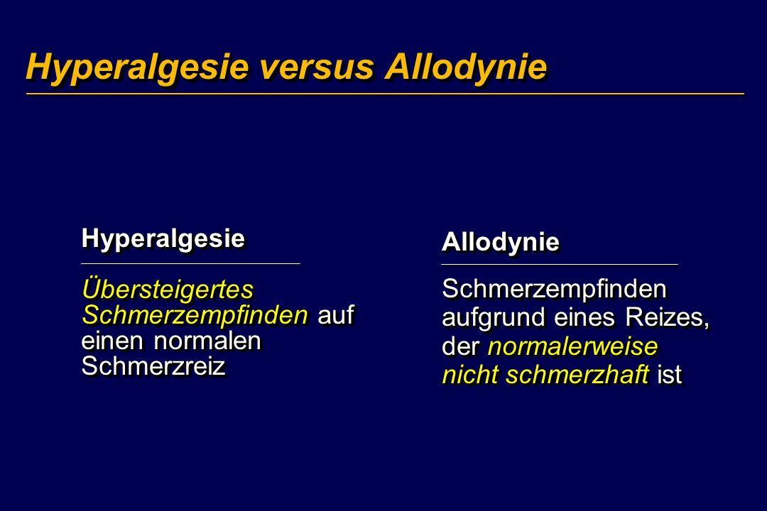 Hyperalgesie versus Allodynie