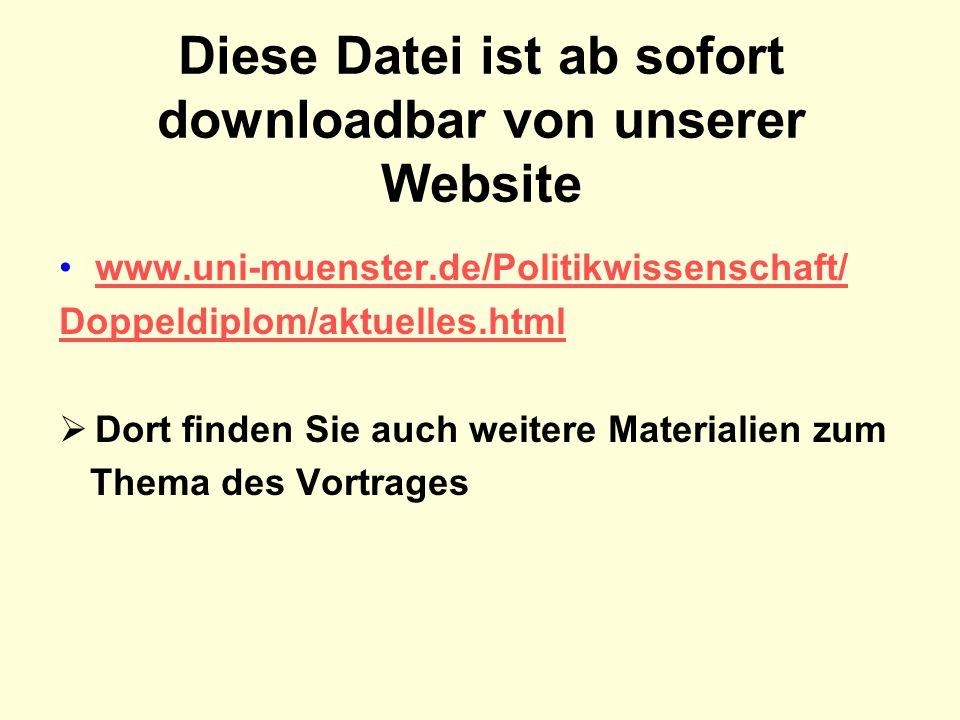 Diese Datei ist ab sofort downloadbar von unserer Website