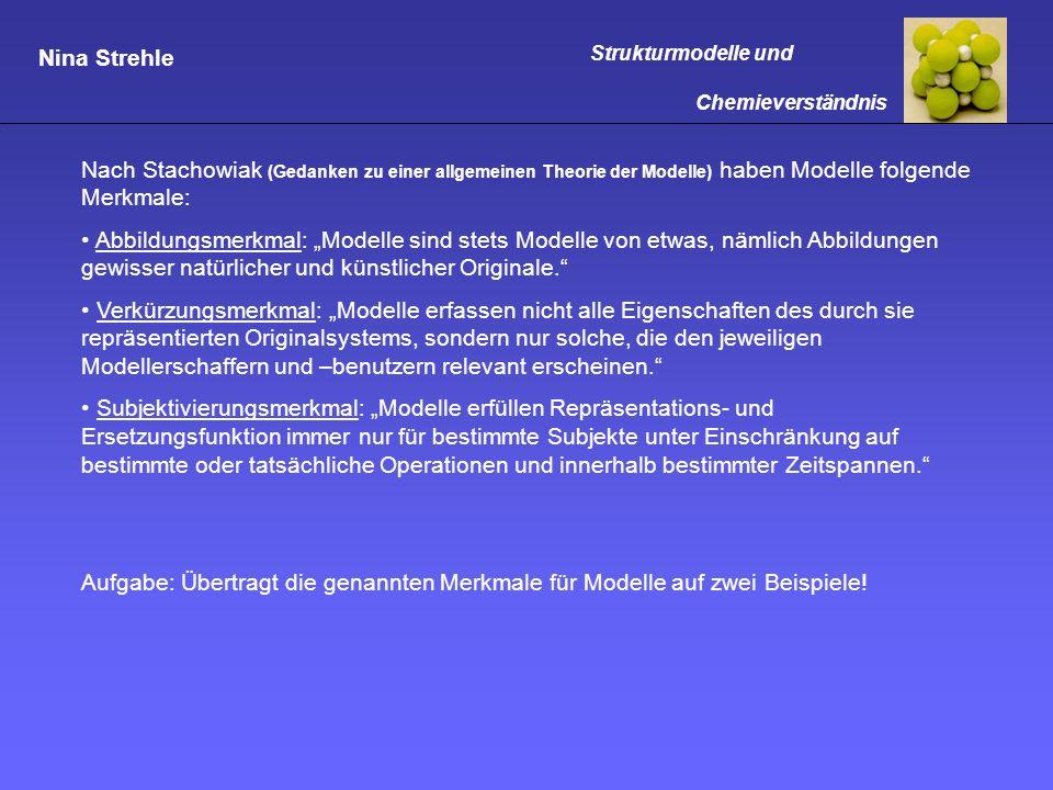 Nach Stachowiak (Gedanken zu einer allgemeinen Theorie der Modelle) haben Modelle folgende Merkmale: