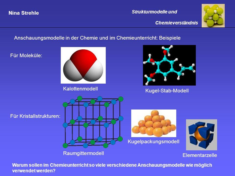 Anschauungsmodelle in der Chemie und im Chemieunterricht: Beispiele