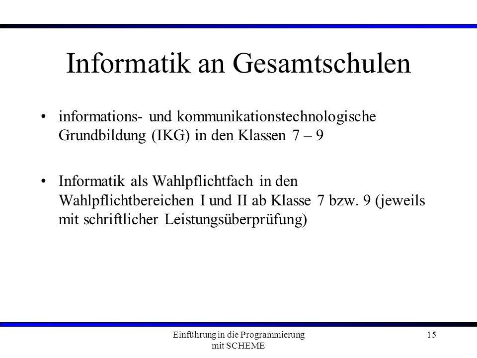 Informatik an Gesamtschulen