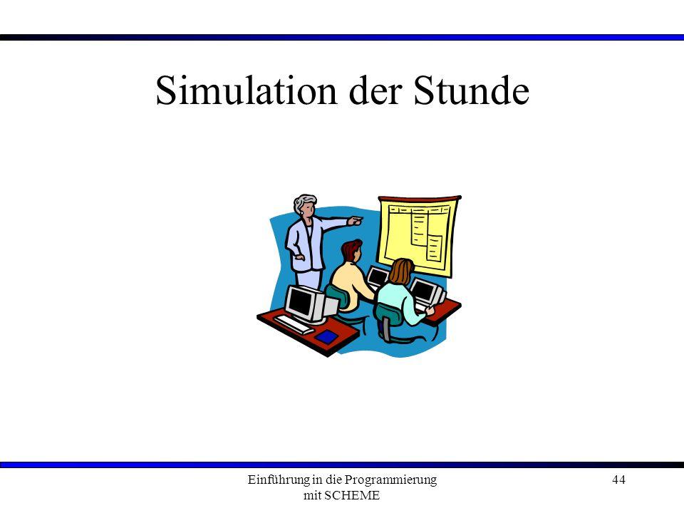 Einführung in die Programmierung mit SCHEME