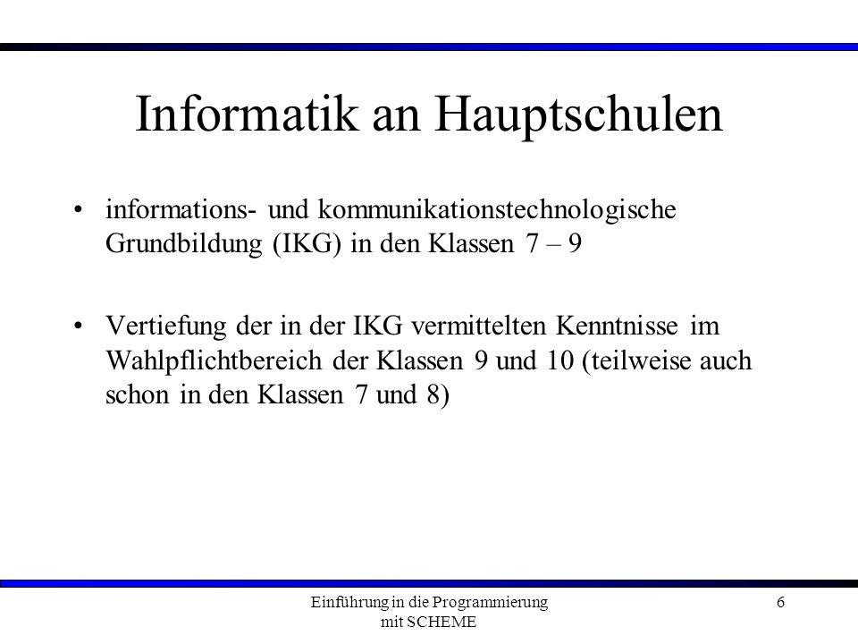 Informatik an Hauptschulen