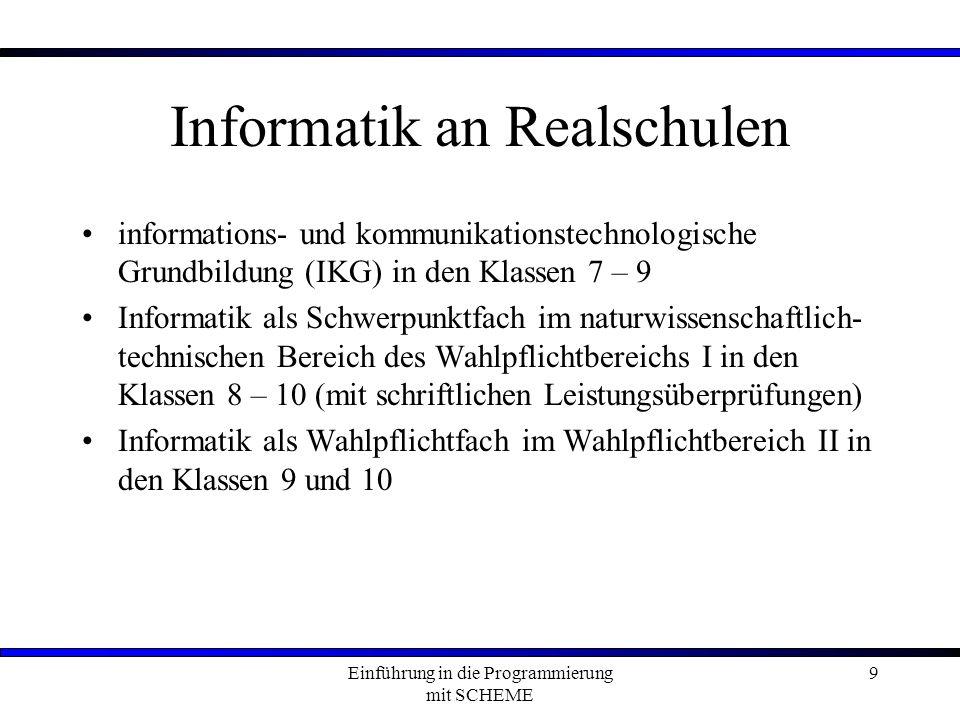 Informatik an Realschulen