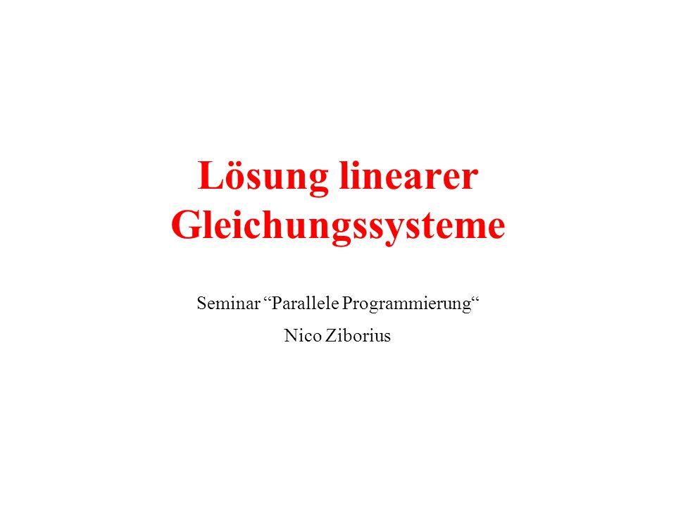 Lösung linearer Gleichungssysteme