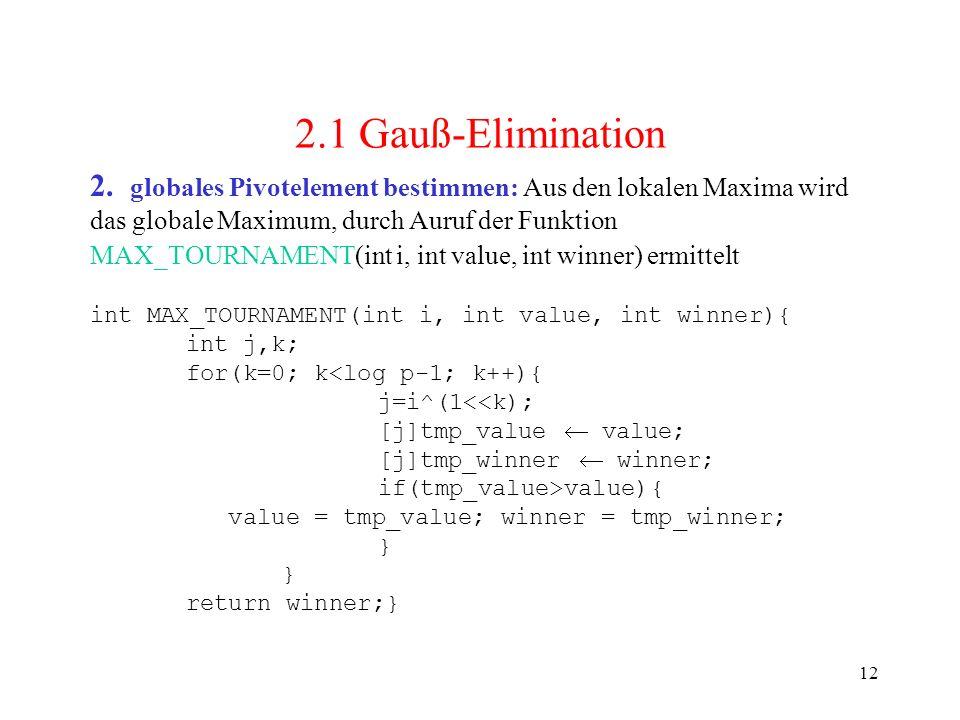 2.1 Gauß-Elimination