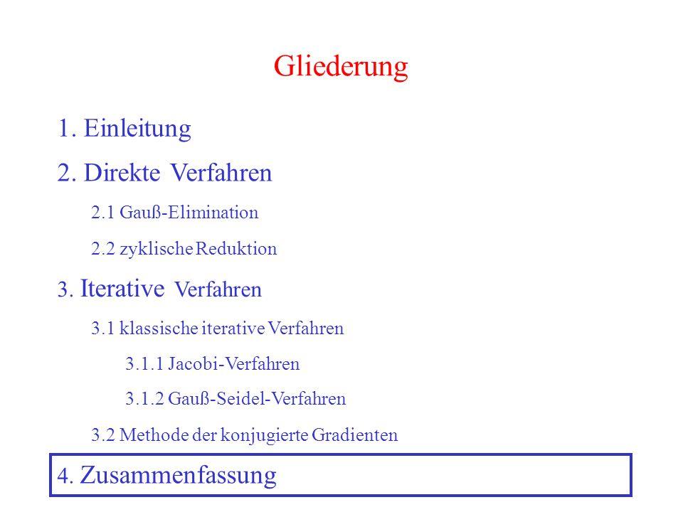 Gliederung 1. Einleitung 2. Direkte Verfahren 3. Iterative Verfahren