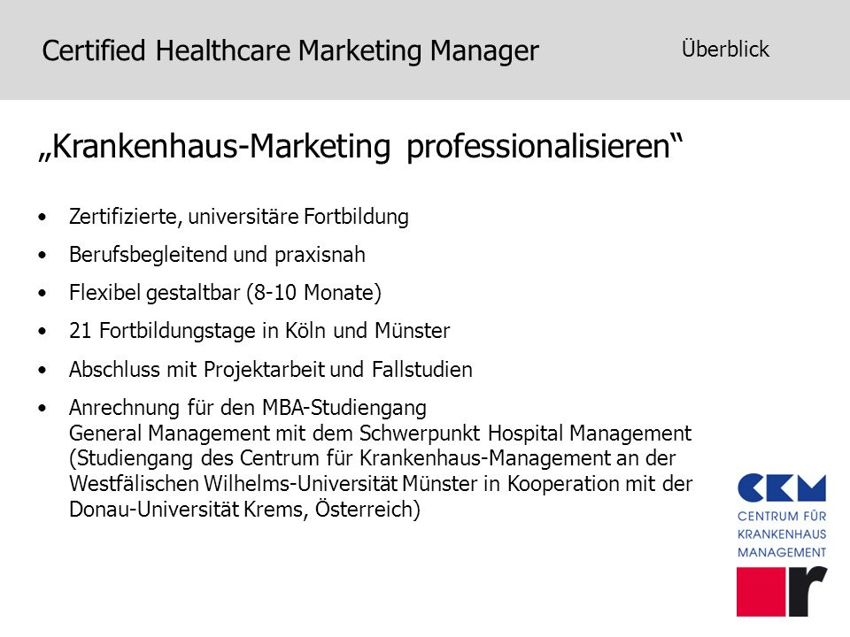 """Krankenhaus-Marketing professionalisieren"