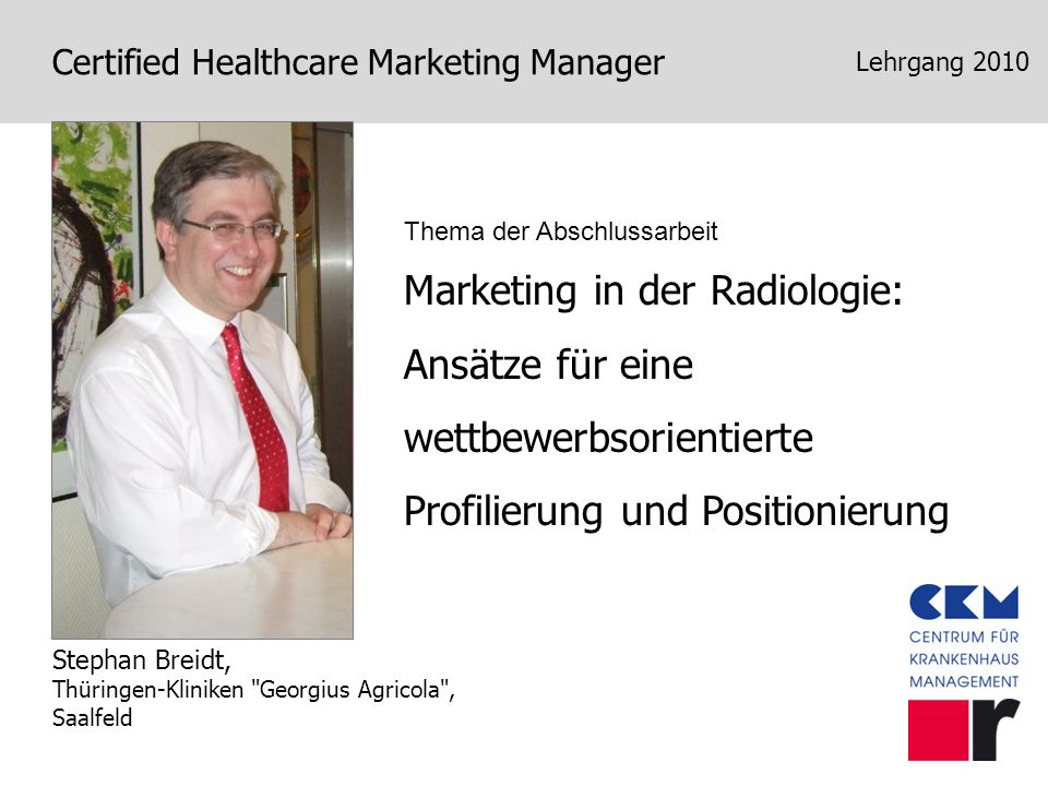 Marketing in der Radiologie: