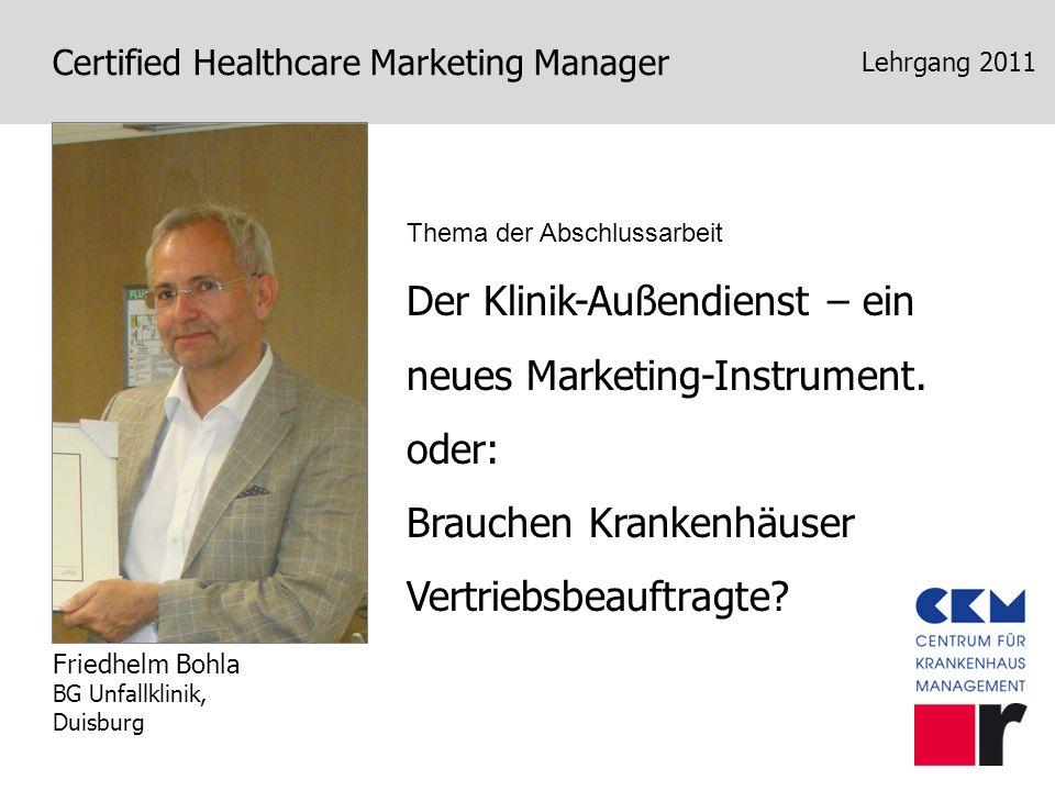 Der Klinik-Außendienst – ein neues Marketing-Instrument.