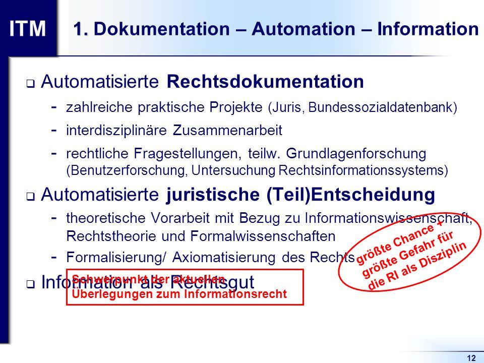 1. Dokumentation – Automation – Information
