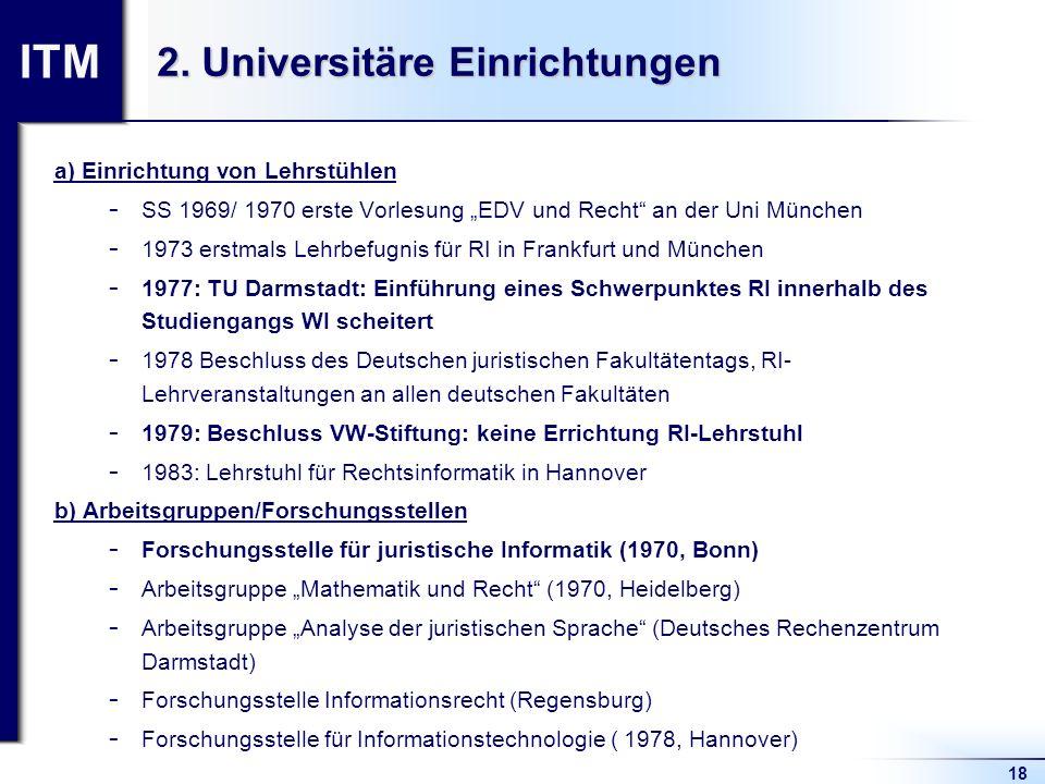 2. Universitäre Einrichtungen