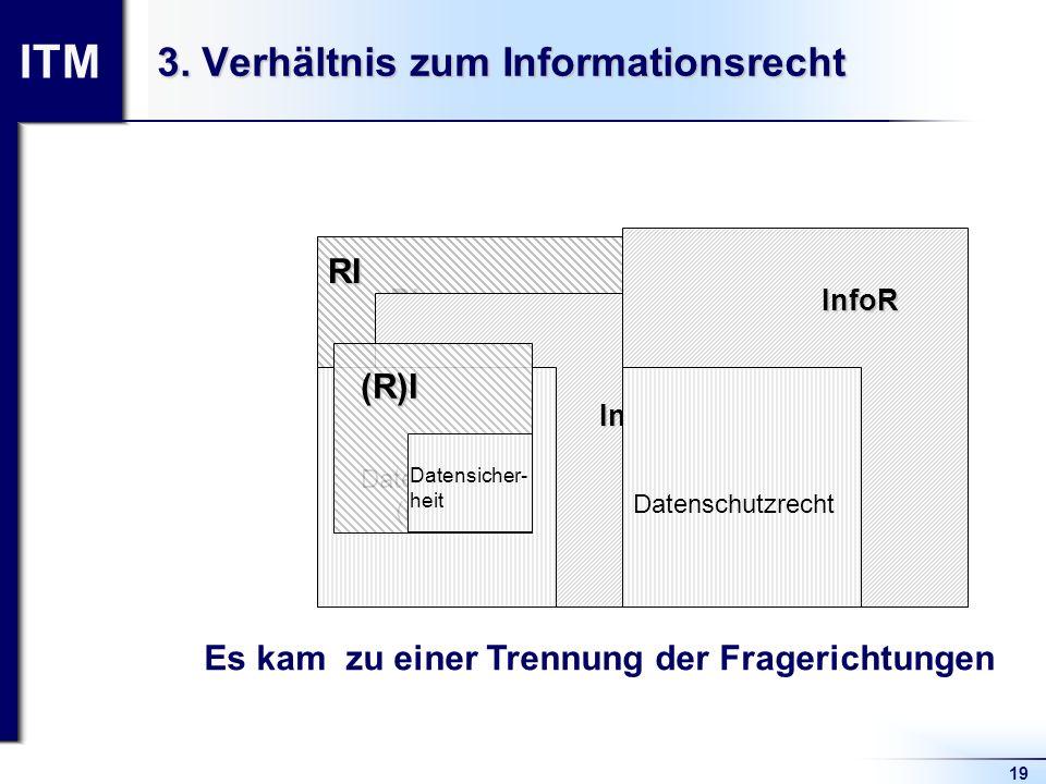 3. Verhältnis zum Informationsrecht