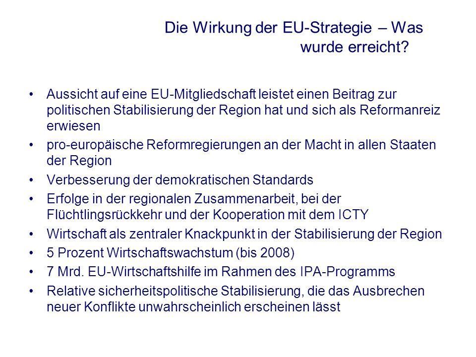 Die Wirkung der EU-Strategie – Was wurde erreicht