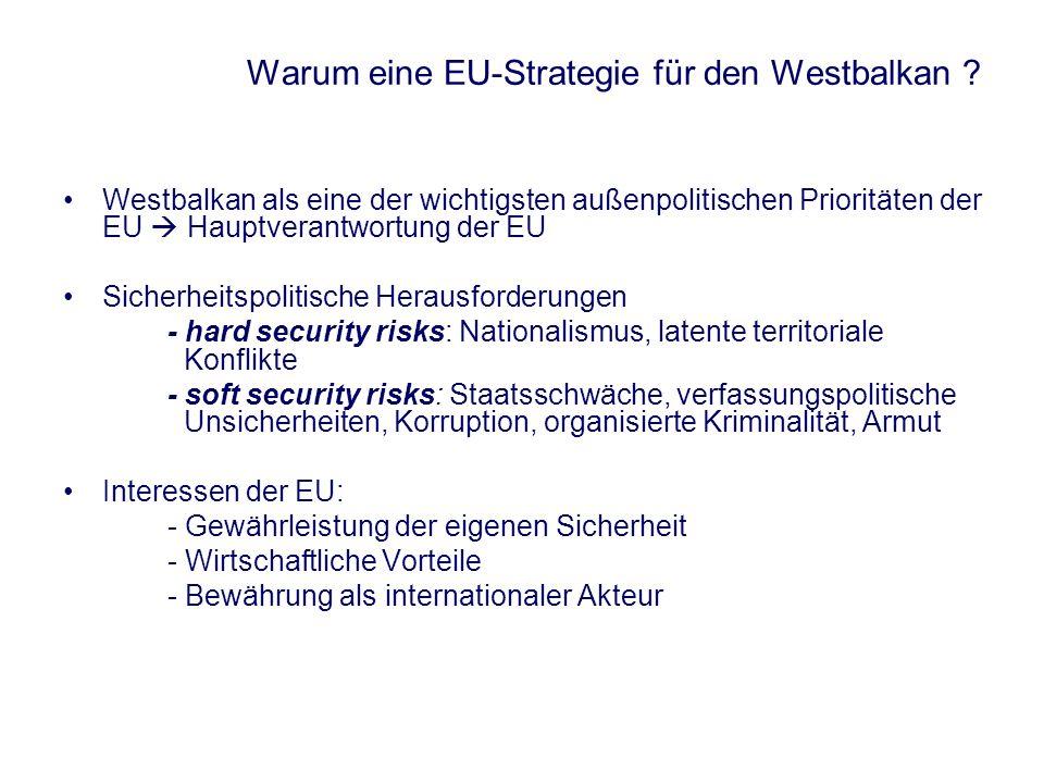 Warum eine EU-Strategie für den Westbalkan