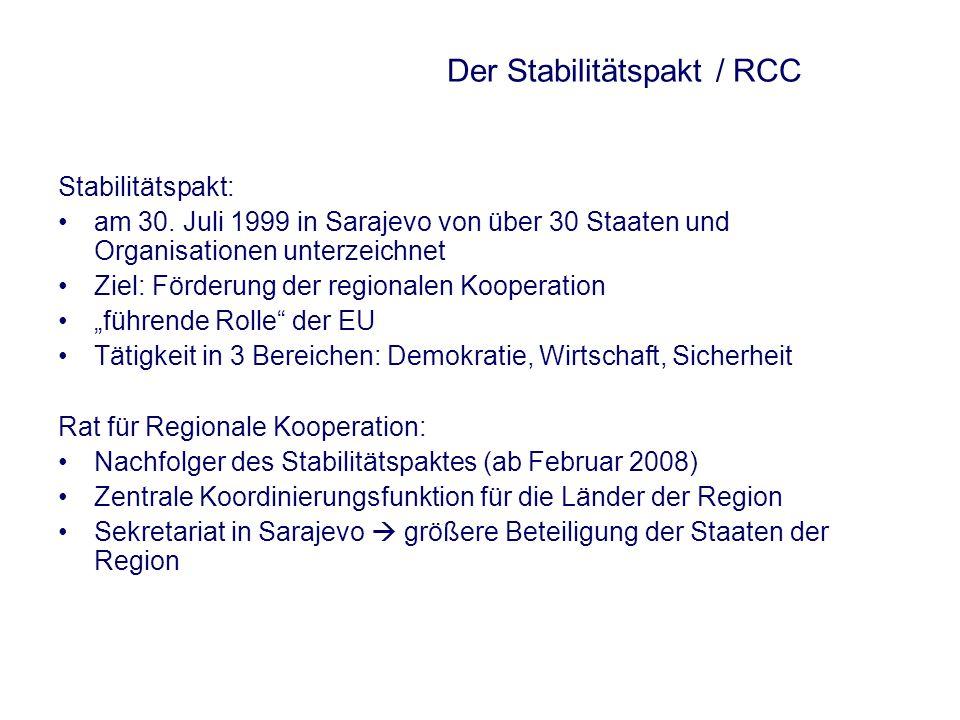 Der Stabilitätspakt / RCC