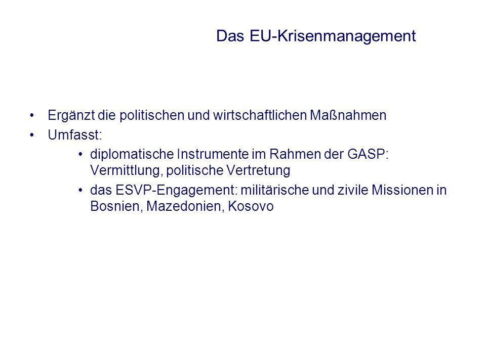Das EU-Krisenmanagement