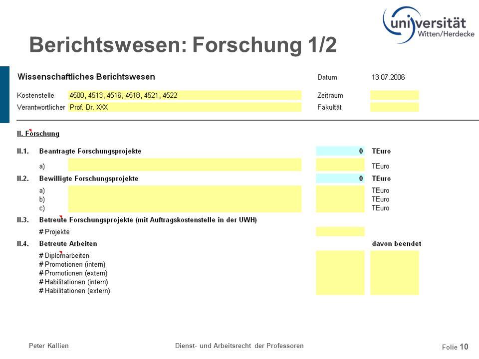 Berichtswesen: Forschung 1/2