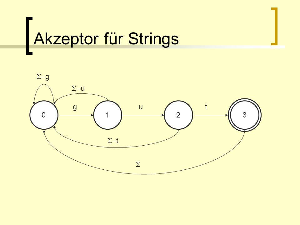 Akzeptor für Strings S-g S-u g 1 u 2 t 3 S-t S