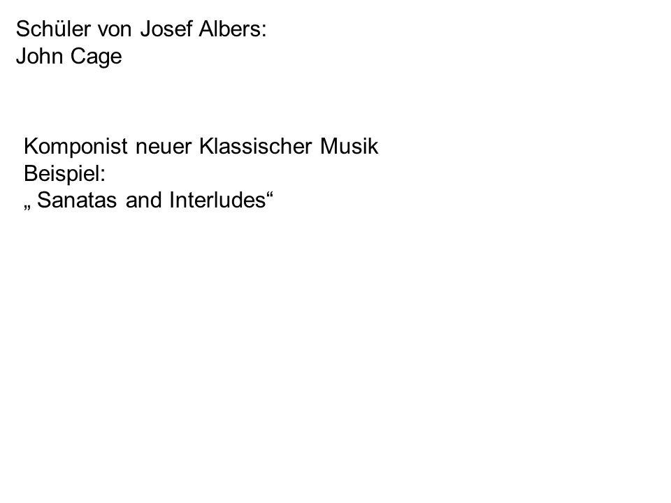 Schüler von Josef Albers: